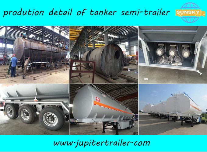 Sunsky brand 3-axle fuel tanker semi-trailer
