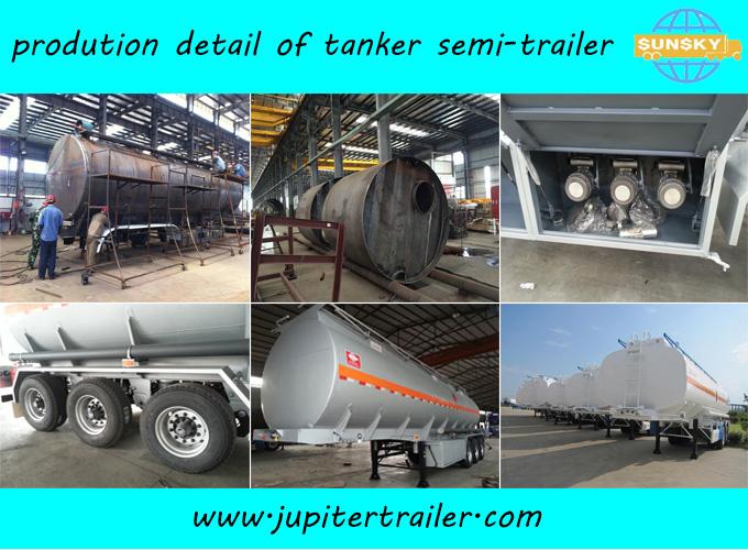 33000 liters Carbon Steel Oil Tanker Trailer