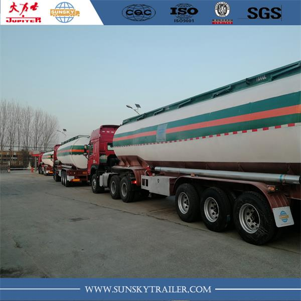 Fuel tanker trailer deliver