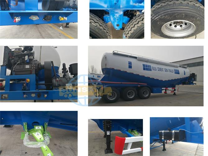 details of bulk cement trailer