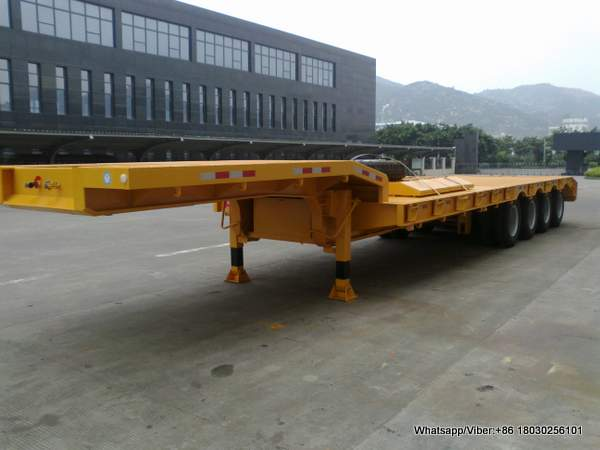 4 Axles lowboy Truck Semi Trailer