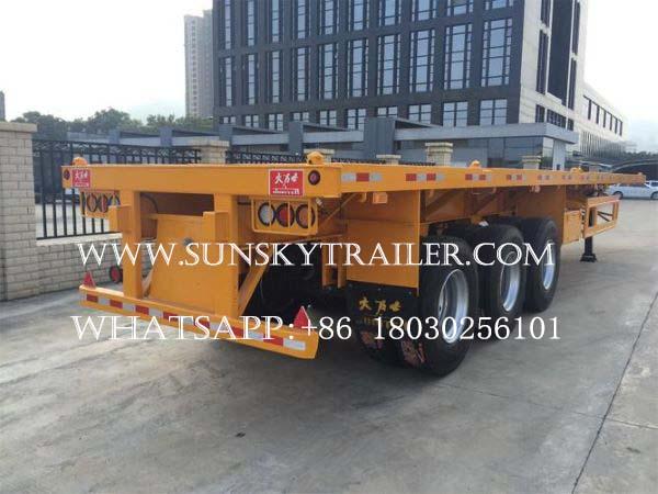 40ft container trailer,skeleton trailer, flatbed trailer