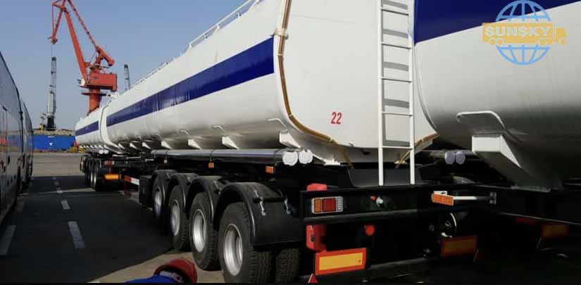 4 axle fuel tanker trailer
