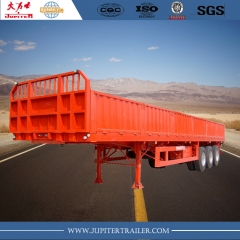 40ft 3-axle dropside semi-trailer with side wall