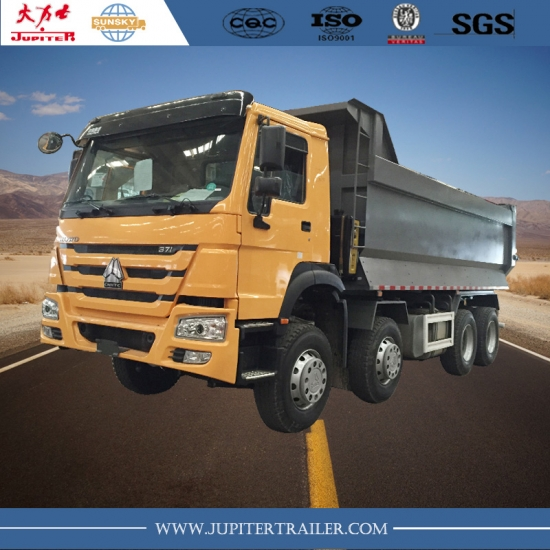 China HOWO Brand 371HP 8X4 Dump Truck with 12 wheels