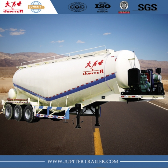 Sunsky brand 3-axle 40 cbm bulker carrier semi-trailer