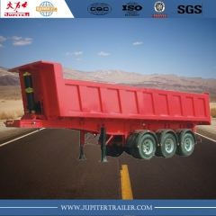 3-axle square tipper semi-trailer made in china