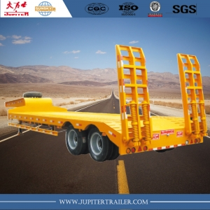 Chinese brand 2-axle 45ton lowbed semi-trailer for transporting wheel loader