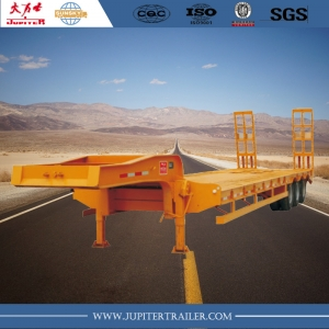 Chinese brand 3-axle lowbed semi-trailer for carry equipment