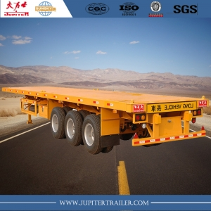 Chinese brand 40foot 3-axle flatbed semi-trailer