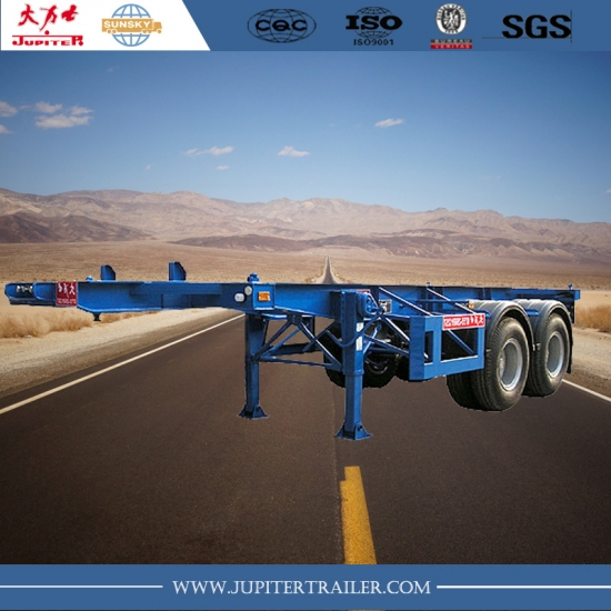 Chinese manufacturer 20foot skeletal trailers