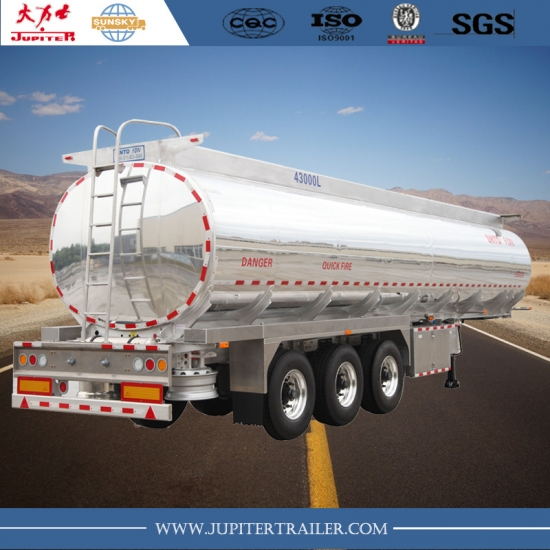 CHINA SUNSKY brand 3-axle Aluminum Tanker semi-trailer