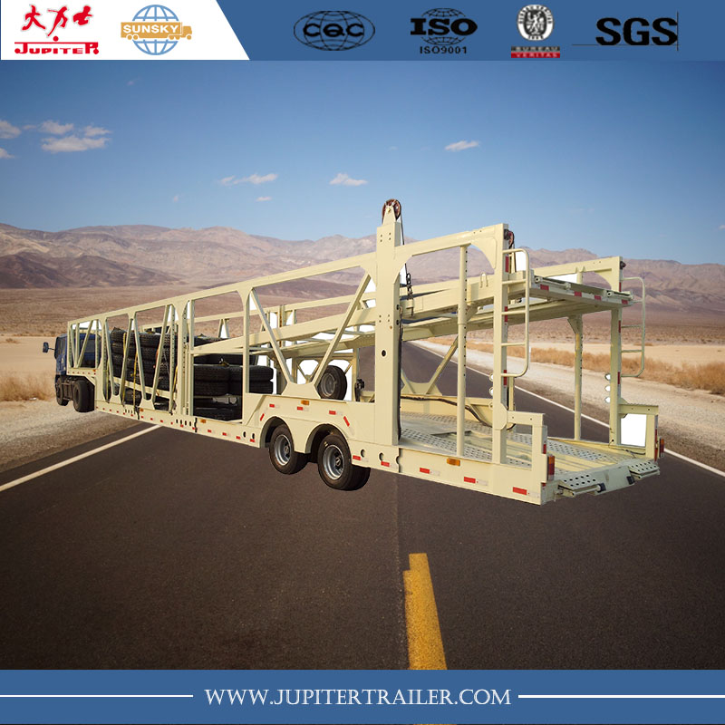 2-3 axles car carrier transport semi trailer used carry 11-12 cars