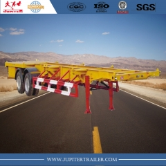 20ft 2-Axle Skeleton Semi-Trailer For Carry Container