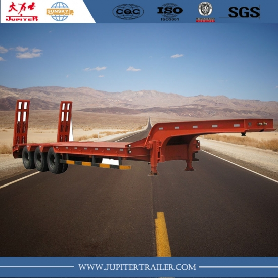 Max High Quality 3-Axle Lowbed Semi Trailer