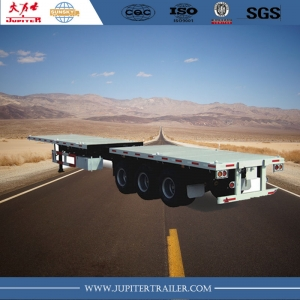 40ft or 45ft 3 axle extendable Flatbed semi trailer