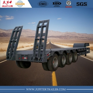 4 rows 8 axles lowbed semitrailers Low Bed Lowboy Truck Trailer