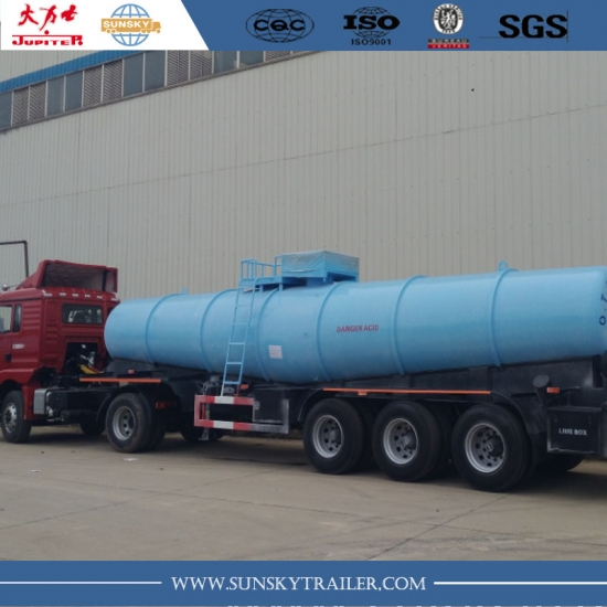 22,000 Liters V shape sulphuric acid tanker semi-trailer