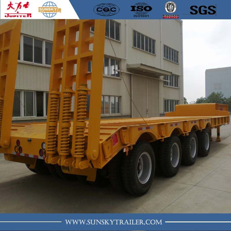 150 tons 2 lines 4 axles low bed trailer