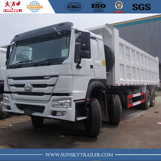 Factory price HOWO 8X4 12 WHEELER DUMP TRUCK WITH 420HP EURO IV