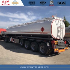 Burkina Faso 45000 liters fuel tanker trailer with ADR standard