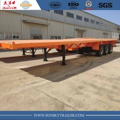 40 FT airbag suspension flatbed trailer