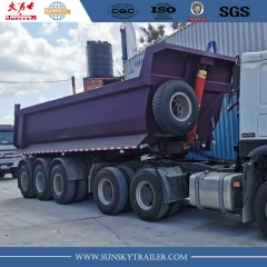 24cbm tri axle tipper trailer