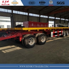 4 Axle Flatbed Drawbar Pulling Trailer supplier