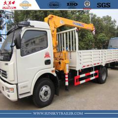 SINOTRUK HOWO 4X2 CARGO TRUCK WITH MOUNTED CRANE supplier