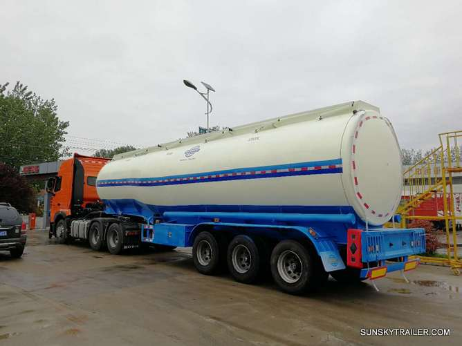 SUNSKY FUEL TANKER TRAILER READY TO DELIVER TO DAR ES SALAAM PORT,TANZANIA