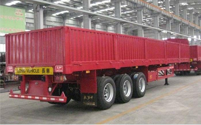 Flatbed Trailer With Side Wall From China