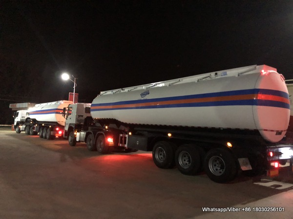 New 40000 liters fuel tanker trailer deliver to Africa