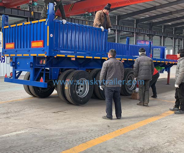 Popular Type Side Wall Trailer For Tanzania Market