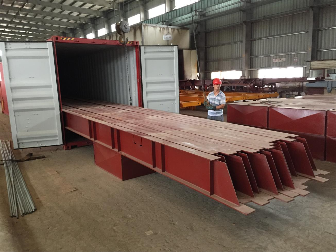 Shipping idea 4: load trailers in CKD status by 20ft container and 40ft container mix