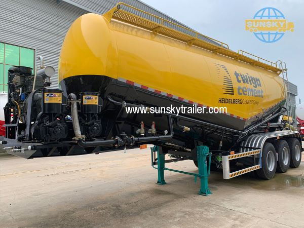 New Model China Bulk Cement Trailers For East Africa