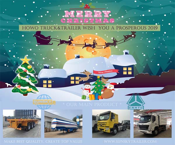 HOWO Truck Trailer: Happy Holiday& Merry Christmas To All Friend